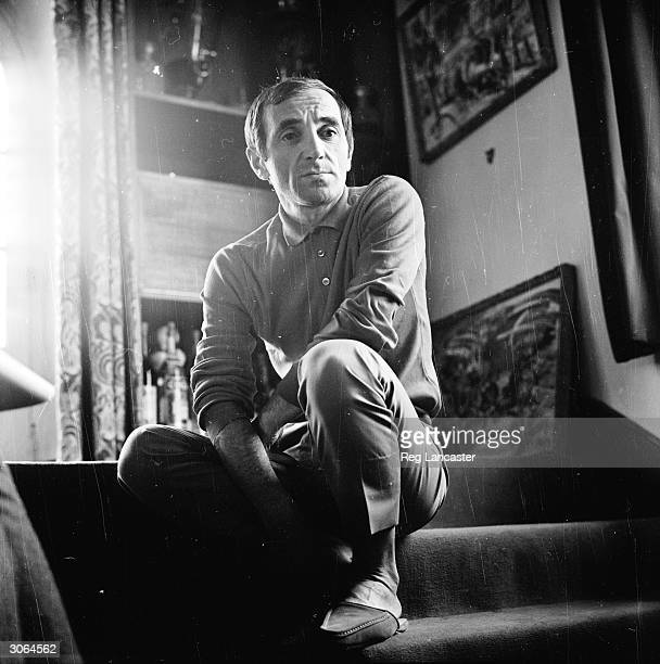 Singer songwriter Charles Aznavour in reflective mood