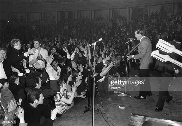American rock 'n' roller Bill Haley playing at the Albert Hall London