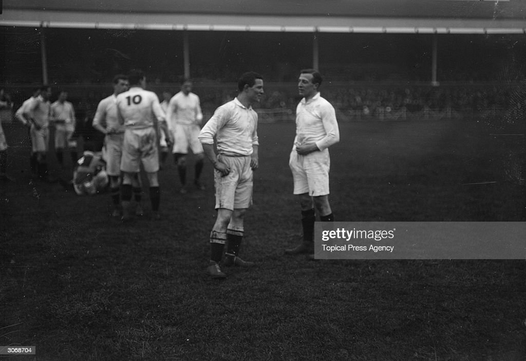 British rugby union player Adrian Stoop talking to one of his teammates at Harlequins He was the guiding force behind the London side whose stadium...