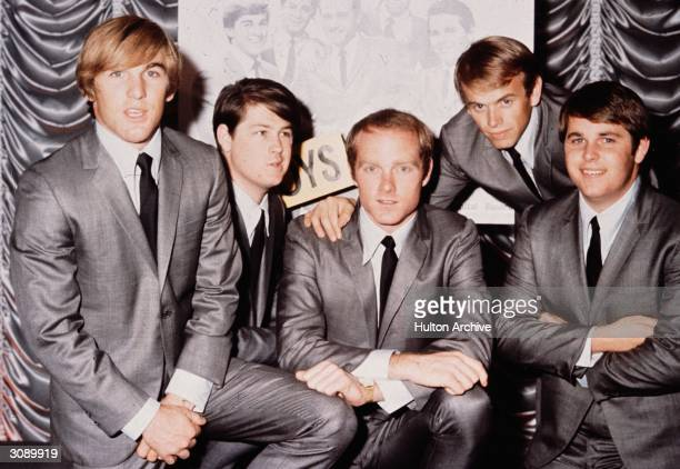 American pop group The Beach Boys in 1964 From left to right Dennis Wilson Brian Wilson Mike Love Al Jardine and Carl Wilson