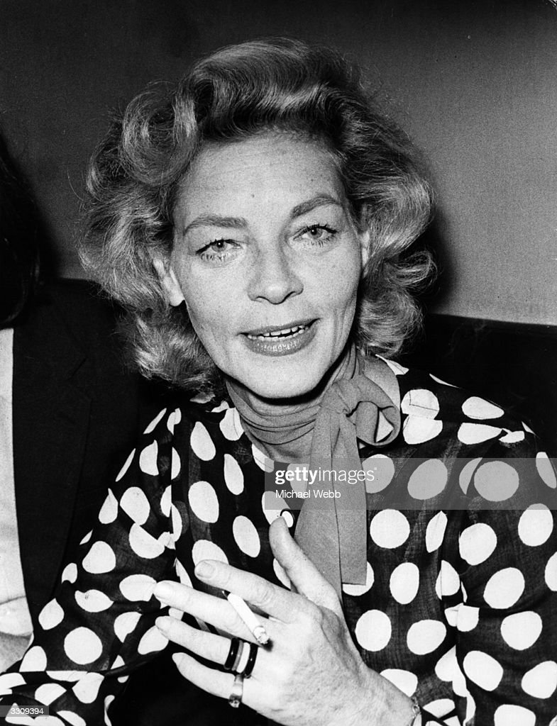 American film actress Lauren Bacall.