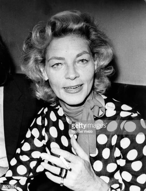 American film actress Lauren Bacall