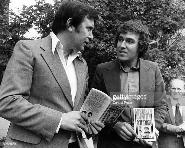 Peter Hain the young liberal who has recently written a book about the shortcomings of identity parades talking to convicted robber George Davis who...