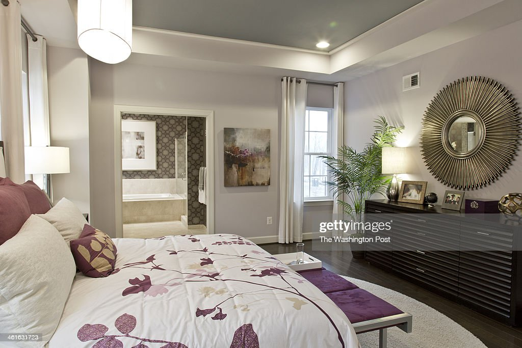The Master Suite in the Tribeca Model Home at One Loudon on January 02, 2014 in Ashburn Virginia.