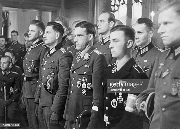 2World War germany during scientific conference of leaders of the NSDSTB in the house of 'Langemarck' of the univ Heidelberg Students decorated with...
