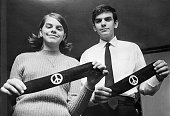 3/04/1968Des Moines Iowa Mary Beth Tinker and her brother John display two black armbands the objects of the US Supreme Court's agreement March 4th...