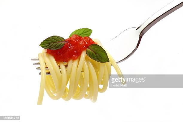 İtalian de pâtes à la sauce tomate et à la menthe