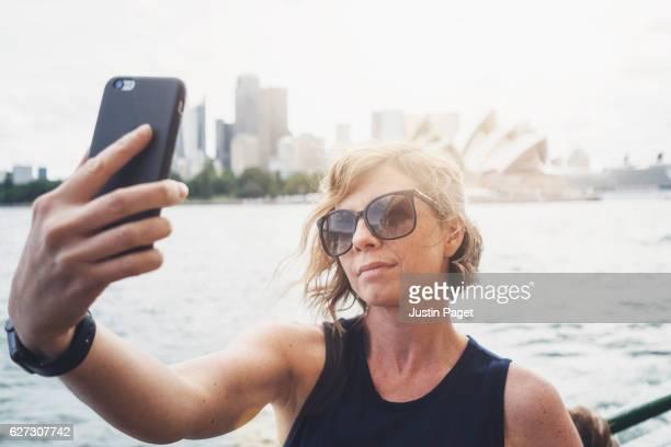 30s Woman taking selfie in Sydney