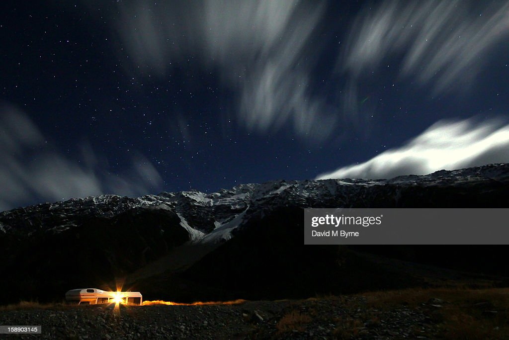 CONTENT] 30-second, nighttime exposure of the surrounding mountains as seen from White Horse Hill Camp Ground outside Mount Cook Village, Mount Cook National Park, South Island, New Zealand.