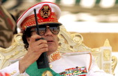 30th anniversary of the Revolution where Muammar Gaddafi assisting to the military parade in 1999