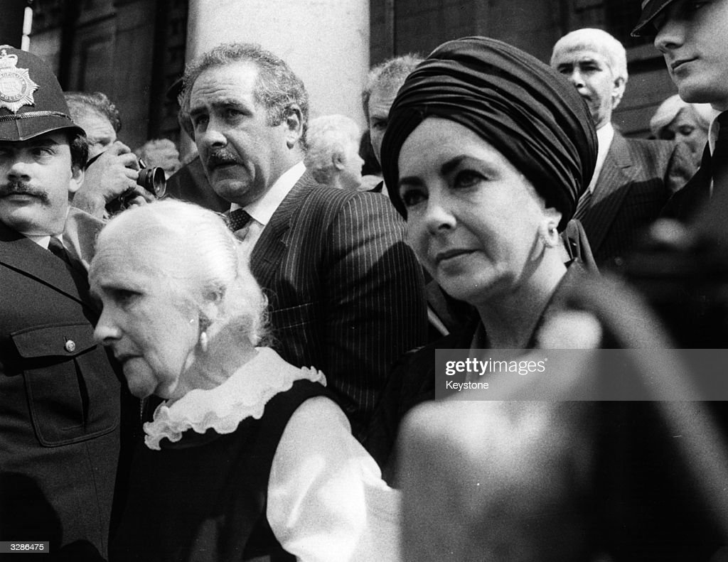 British-born actress Elizabeth Taylor, at a memorial service for her former husband, Richard Burton, at St-Martin-in-the-Fields Church, London.