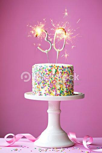 30 Th Birthday Cake Stock Foto