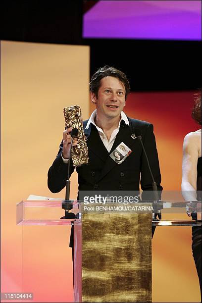30th Cesar Awards Ceremony at the Theatre du Chatelet in Paris France on February 26 2005 Mathieu Amalric