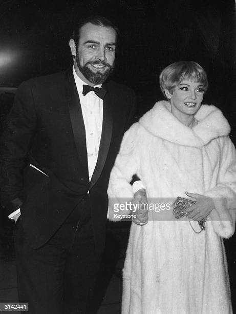 Scottish film star Sean Connery and his wife Diane Cilento arriving at the Empire Cinema in Leicester Square London for the World Premiere of the...