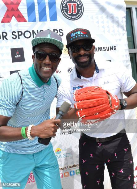 Donavan Campbell and DJ Irie at Irie Weekend golf tournament at Miami Beach Golf Course on June 30 2017 in Miami Beach Florida