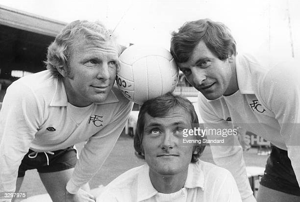 Footballers Bobby Moore Alan Mullery and Hanson of Fulham FC