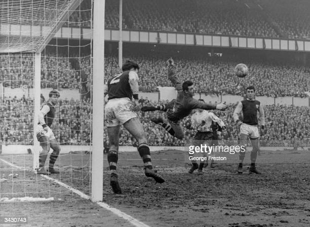 Adam Blacklaw the Scotland and Burnley goalkeeper makes a save during a game against Tottenham Hotspur at White Hart Lane London
