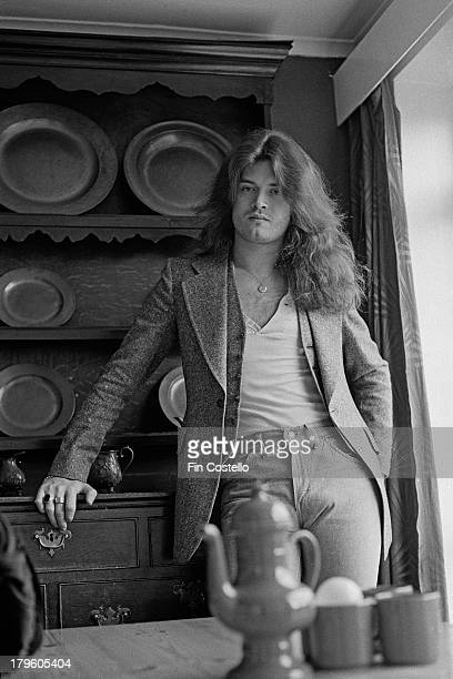 Bass guitarist Glenn Hughes from English rock group Trapeze posed in Wolverhampton England on 30th March 1973