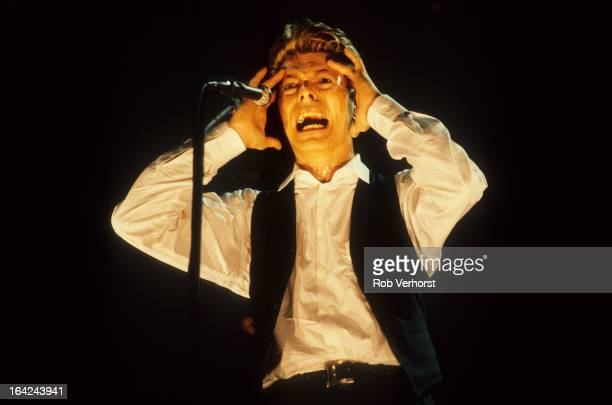 David Bowie performs live on stage during the Sound Vision tour at Ahoy in Rotterdam Netherlands on 30th March 1990