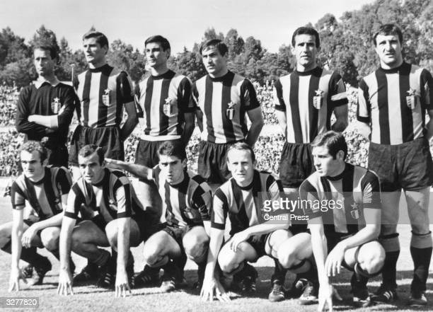The players of Inter Milan pose for photographs prior to their game against Celtic in the European Cup Final in Lisbon They lost 2 1 to Celtic