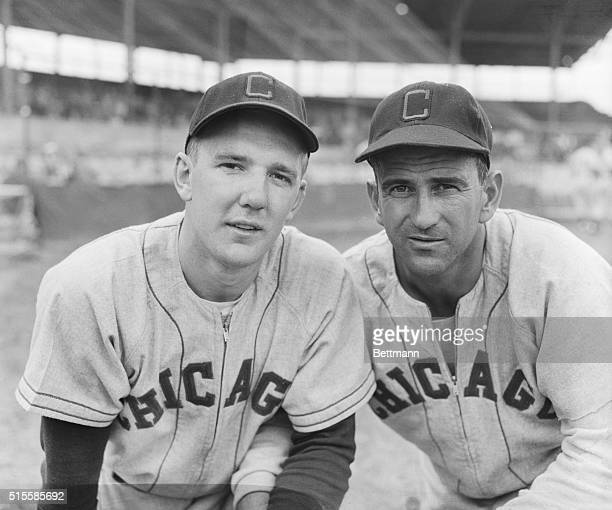 Portrait of infielders Casimir Michaels and Luke Appling who are training with the Chicago White Sox at Phoenix