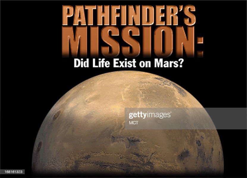 31px 22p color photo illustration of Mars with headline 'Pathfinder's Mission: Did Life Exist on Mars?'