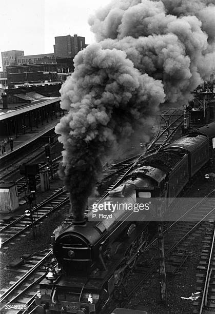 London North Eastern Railway's The Flying Scotsman leaving King's Cross station London on a special trip to Edinburgh Passengers on the first Flying...