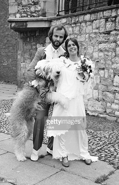 Liverpool born DJ and pioneering champion of alternative music John Peel with his new bride Shelagh Gilhooly