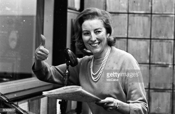 British singer Vera Lynn rehearsing her new radio show