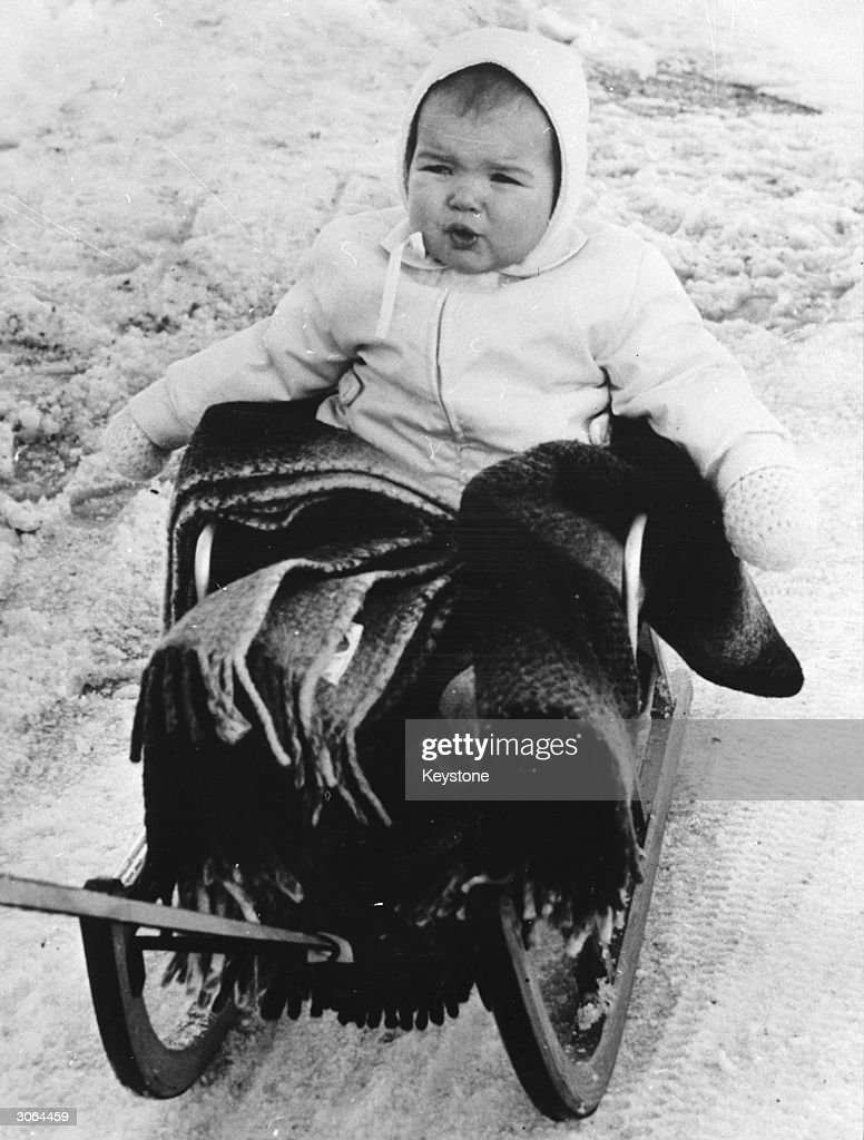 Princess Stephanie daughter of Prince Rainier of Monaco and Princess Grace on holiday at the Swiss resort of Schoenried