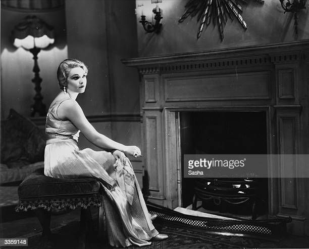 Stage actress Madeleine Carroll looking pensive in the play 'After All' at the Criterion Theatre in London