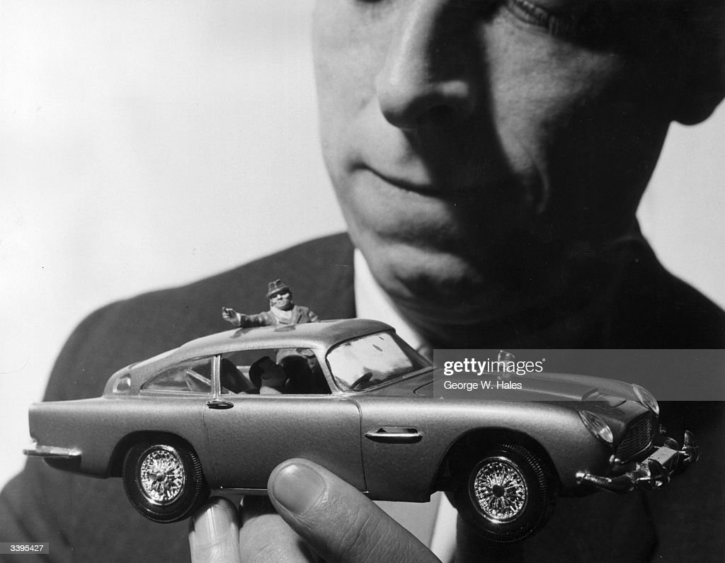The Airfix James Bond Aston Martin DB5 model car, on show at the Brighton Toy Fair, the subject of many letters from little boys to Father Christmas.