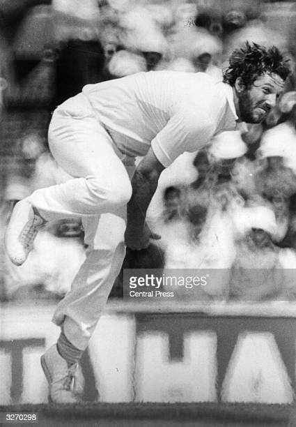 Ian Botham captain of the England and Somerset cricket teams and one of the most famous allrounders in the sport
