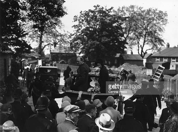 Chancellor of the Exchequer Winston Churchill on Nomination Day at Epping in the General Election of 1929