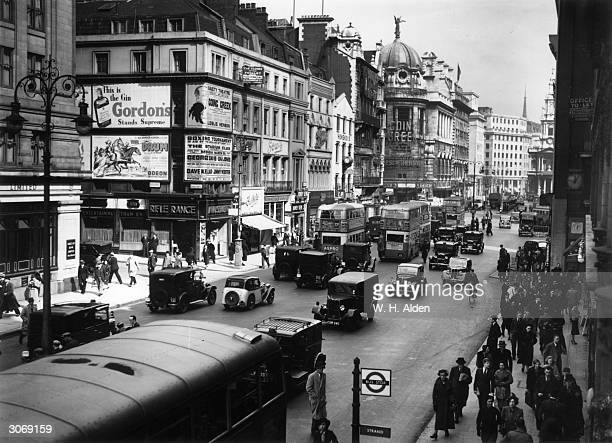 The Strand London looking towards St Mary'sintheStrand
