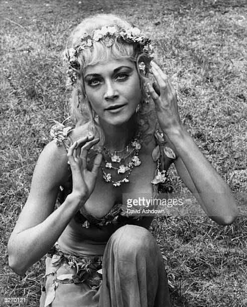 Linda Thorson in her costume as 'Titania' in Shakespeare's play 'A Midsummer Nights Dream' She is best known for her part as Tara King in the...