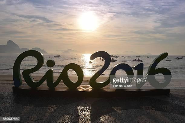 31st Rio 2016 Olympics / 10km Marathon Swimming Women's Illustration / COPACABANA Beach / Landscape / Sea / logo/ Fort Copacabana / Summer Olympic...