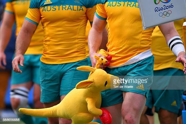 ARG AUS Men's Placing 58 Illustration / Team AUSTRALIA / Ozzie Mascot / kangaroo / Deodoro Stadium / Summer Olympic Games /