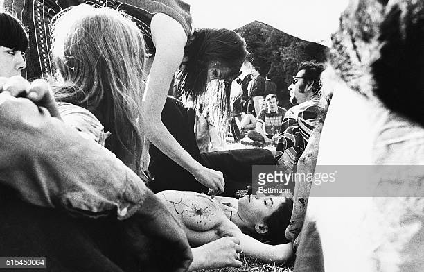 3/21/1968San Francisco CA Sunworshipping Hippies' clothing was scantier than police officials' notice in Golden Gate Park as the rites of Spring...