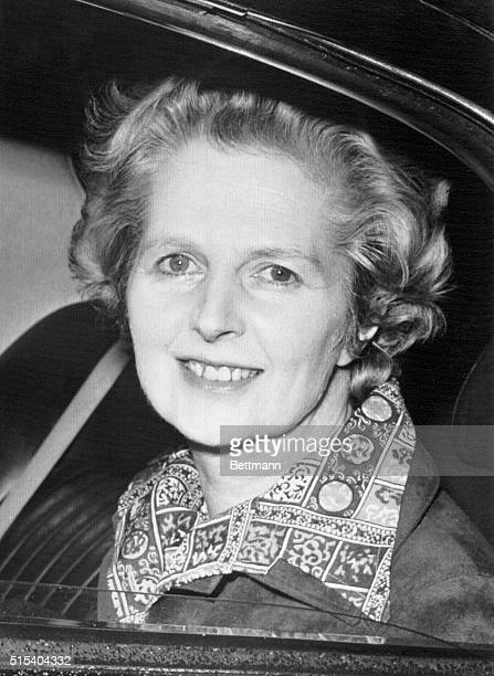 3/21/1977London England Margaret Thatcher government opposition leader leaves her Chelsea home for the House of Commons Mrs Thatcher was tabled a...