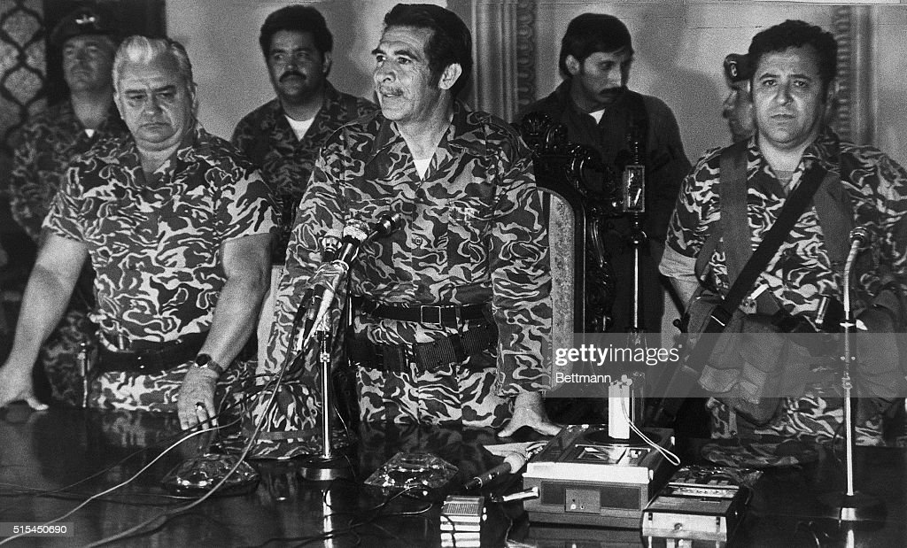 3/23/1982Guatemala City Guatemala Members of the mitillary junta that took power 3/23 after overthrowing President Romeo Lucas Garcia are shown here...