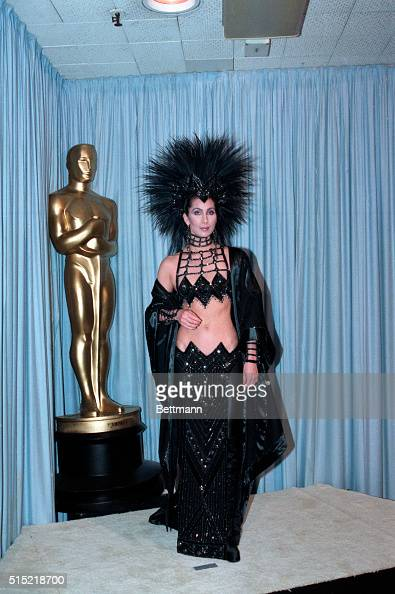 3/24/1986Los Angeles CACher is shown in a fulllength photo from backstage at the Academy Awards BPA