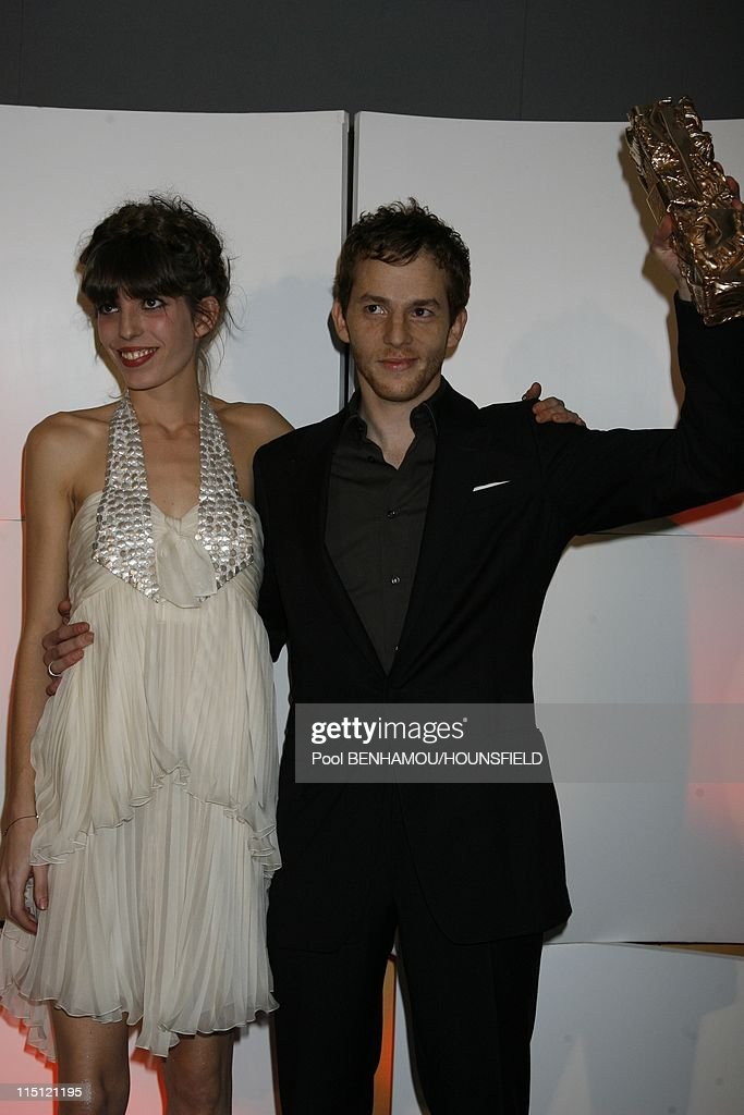 32nd Cesar Awards Ceremony at the Theatre du Chatelet in Paris France on February 24 2007 Lou Doillon and Malik Zidi
