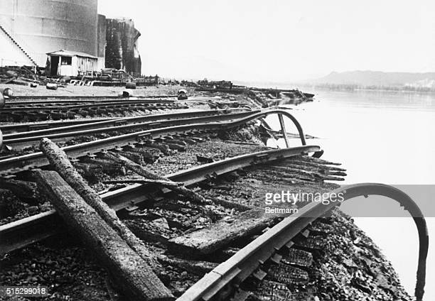 3/30/1964Seward Alaska The Alaskan Railroad one of the lifelines of our largest state was cut here as well as in many other areas by the March 27th...