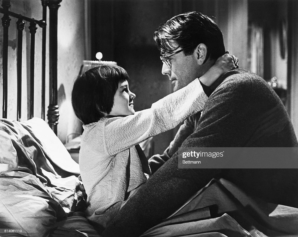 3/3/1962Hollywood CA Movie still of actor Gregory Peck wears glasses in next motion picture 'To Kill A Mockingbird' UniversalInternational's film...