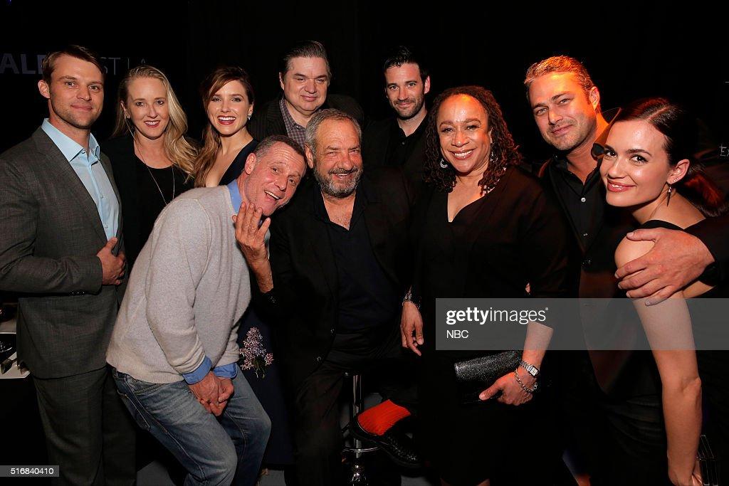 EVENTS '33rd Annual PaleyFest An Evening with Dick Wolf' Pictured Jesse Spencer Jennifer Salke President NBC Entertanment Sophia Bush Oliver Platt...