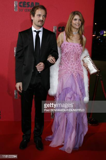 33rd Cesar Awards Ceremony at the Theatre du Chatelet in Paris France on February 22 2008 Alice Taglioni Jocelyn Quivrin