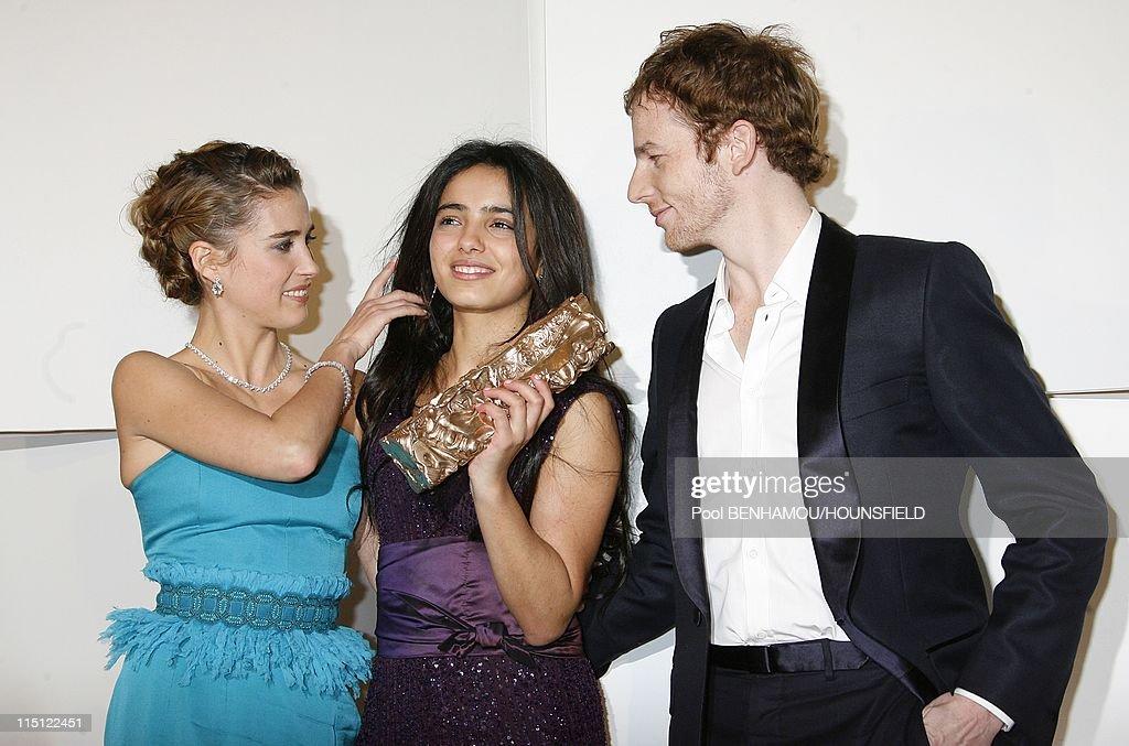 33rd Cesar Awards Ceremony at the Theatre du Chatelet in Paris France on February 22 2008 Vahina GiocanteHafsia Herzi Malik Zidi