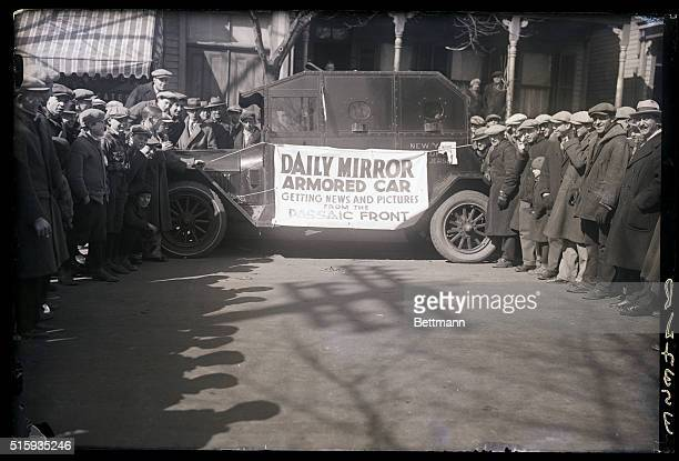 3/4/1926Photo shows the armored car used by Daily Mirror photographers and reporters to cover the story of police cossackism to both newsmen and...