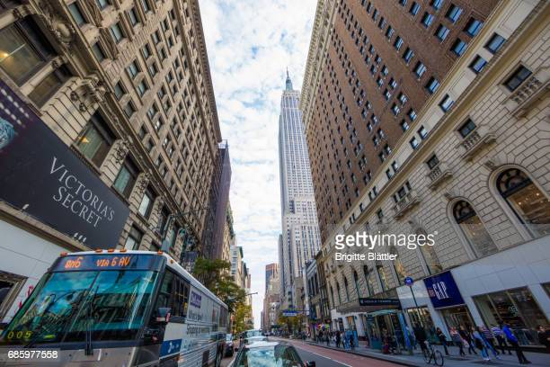 34th street with Empire State Building